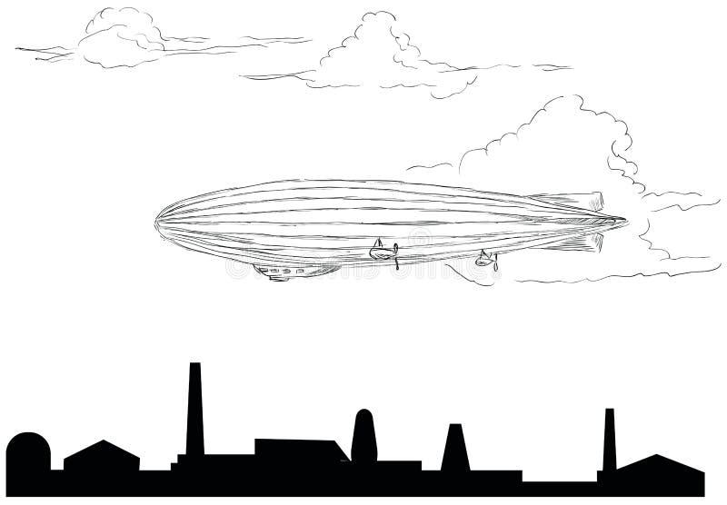 airship иллюстрация вектора