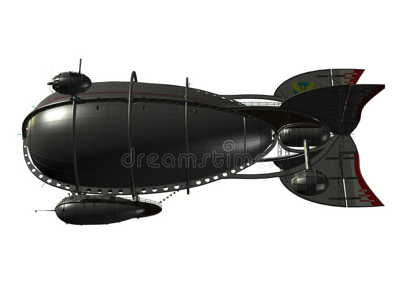 Airship angle from below stock illustration