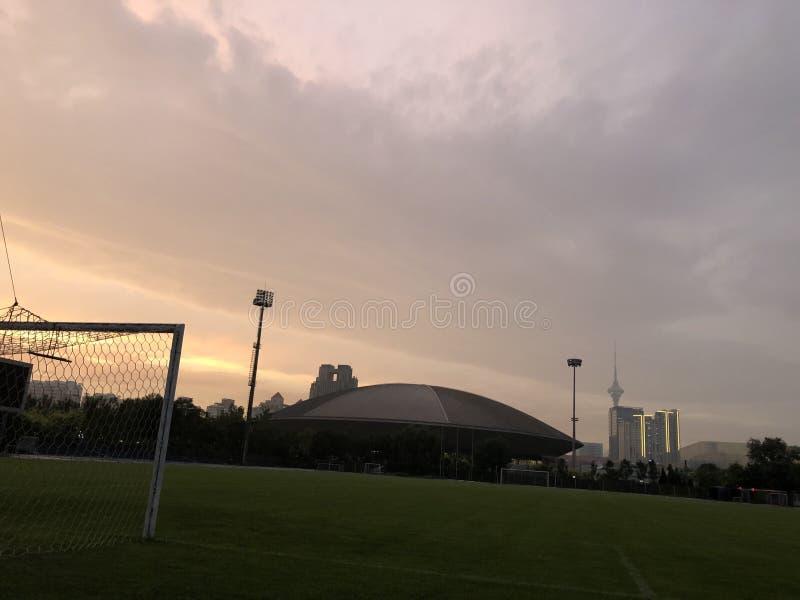 Airship stadium royalty free stock photo