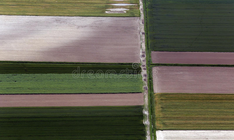Download Airshot Of Fields Stock Photo - Image: 83710426
