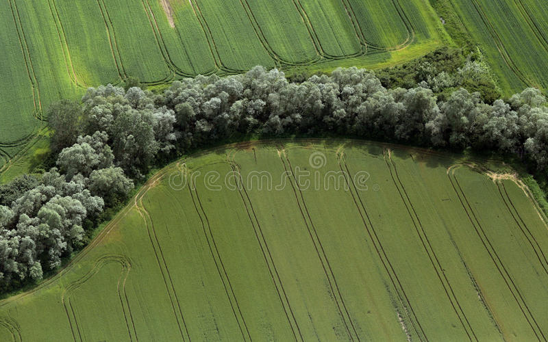 Download Airshot Of Fields Stock Photo - Image: 83712152