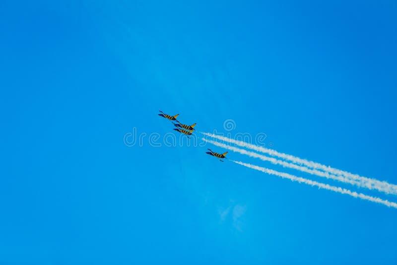 airshow空气摩尔多瓦航空器 免版税库存照片