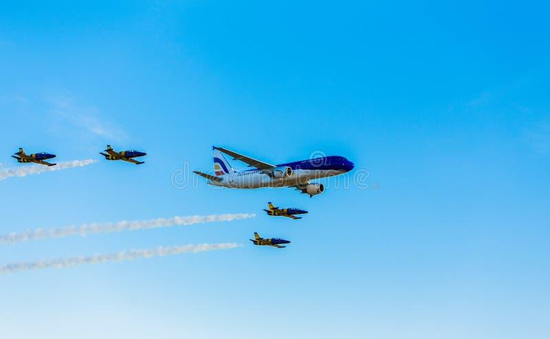 airshow空气摩尔多瓦aircraf 库存图片