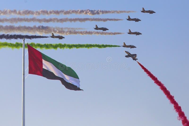 Airshow στο Αμπού Νταμπί στοκ φωτογραφίες με δικαίωμα ελεύθερης χρήσης
