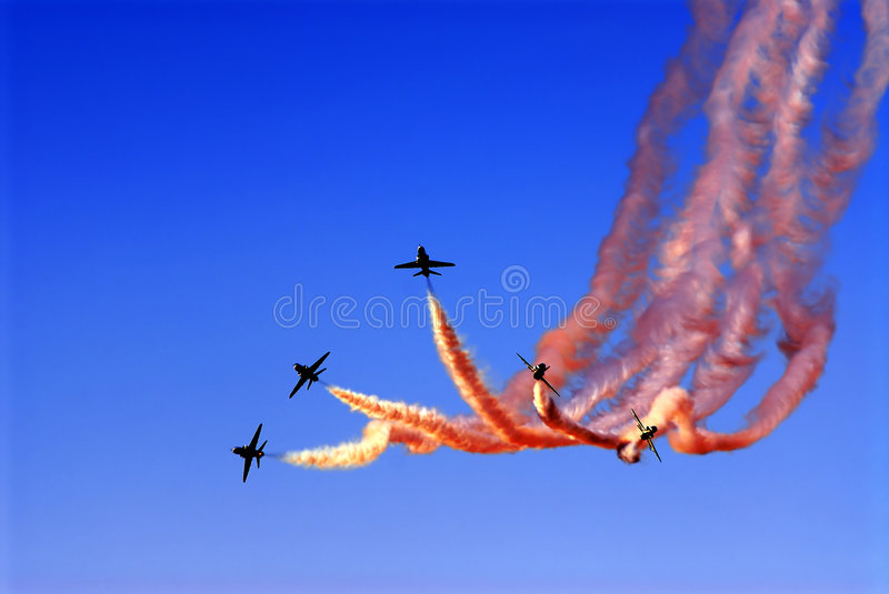 Airshow images stock