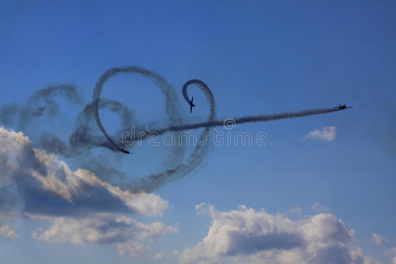 Airshow imagem de stock