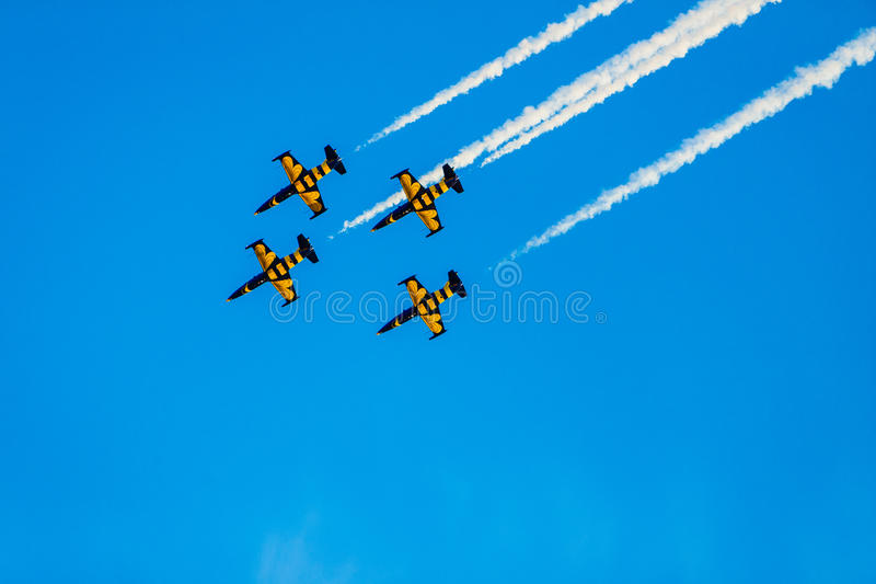 The airshow Air Moldova aircraft royalty free stock images