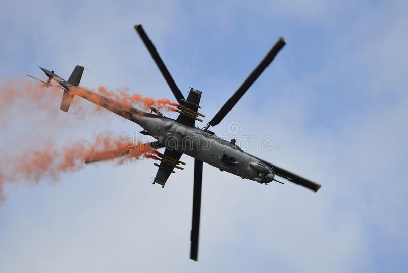 Airshow Airpower11, helikopter arkivbild