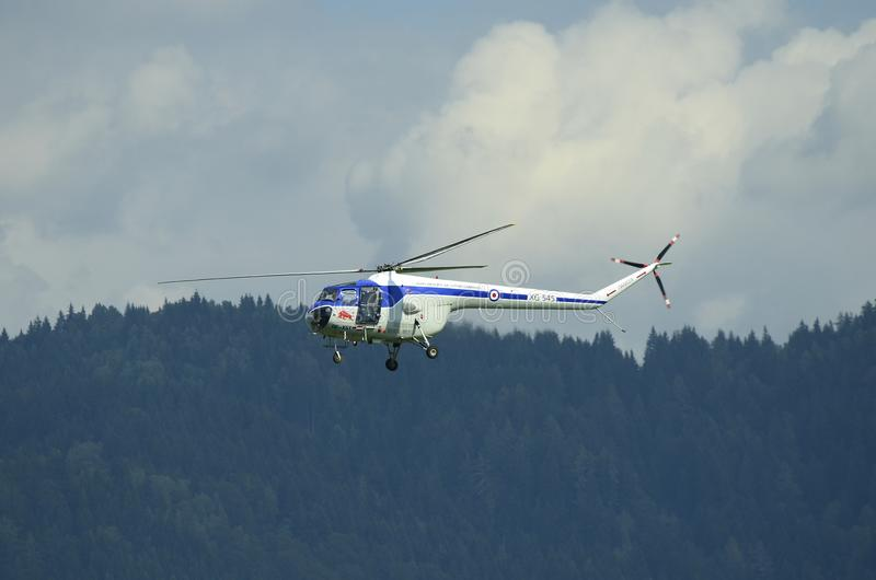 Airshow, Airpower 16,. Zeltweg, Styria, Austria - September 02, 2016: Helicopter Bristol 171 Sycamore by public airshow named airpower 16 stock photo
