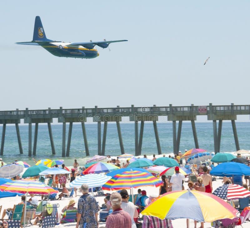 airshow aniołowie wyrzucać na brzeg błękitny Pensacola obrazy royalty free
