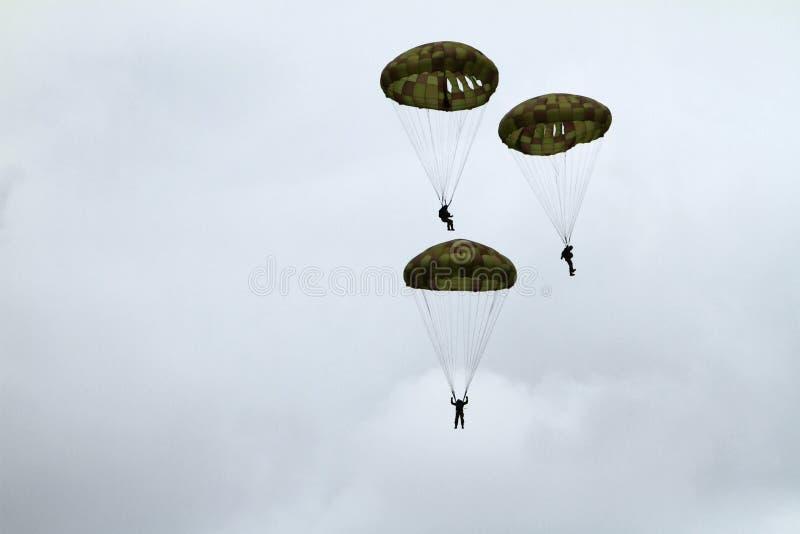 Airshow de parachutiste photo stock