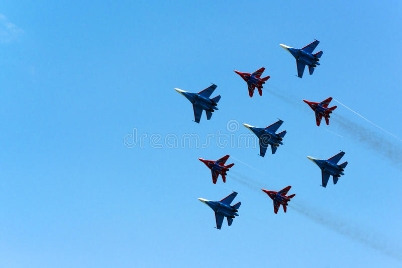 Airshow do russo imagens de stock royalty free