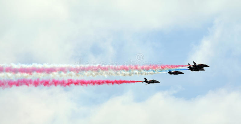 Airshow. In Eastbourne, summer, south of England in 2016 stock photos