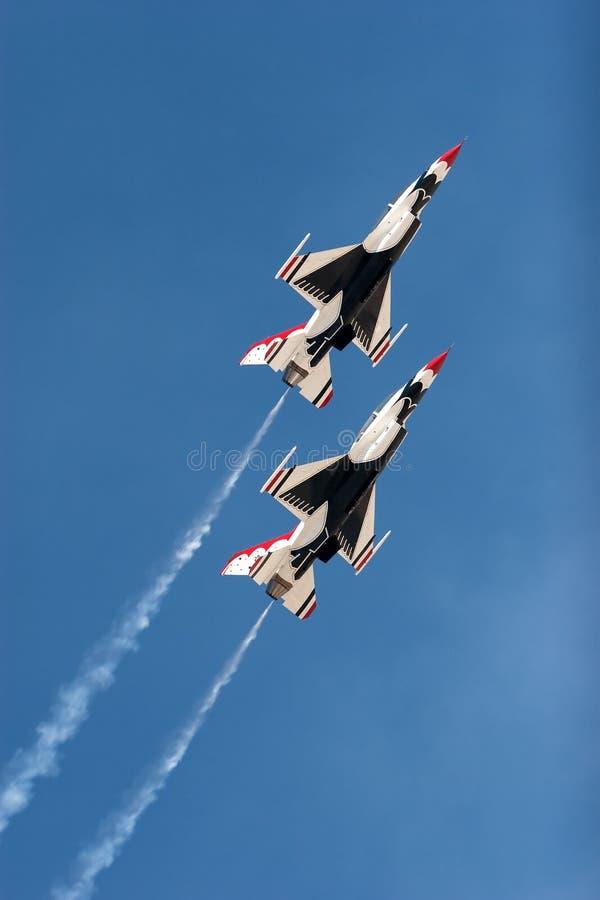 airshow f16 hebluje thunderbirda zdjęcie stock