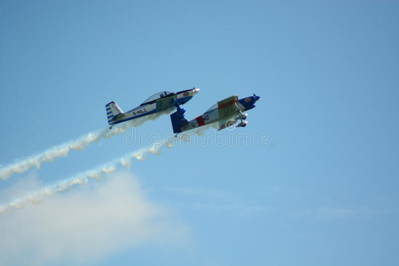 Airshow flygplan royaltyfria bilder