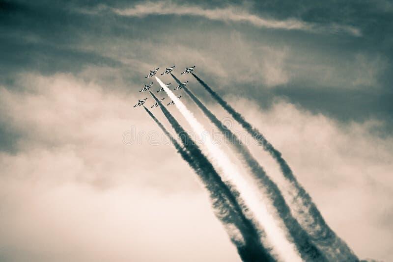 Airshow in het verleden stock foto