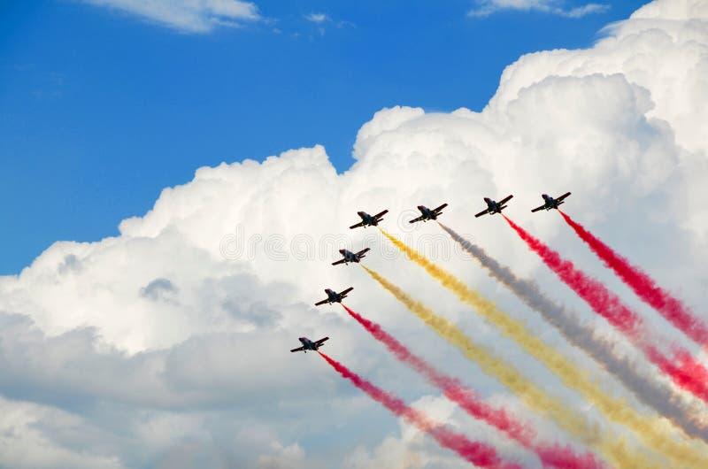 Airshow Italia foto de archivo
