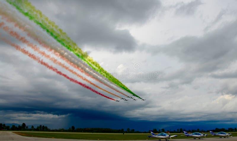 Airshow Italia militar Europa foto de archivo libre de regalías