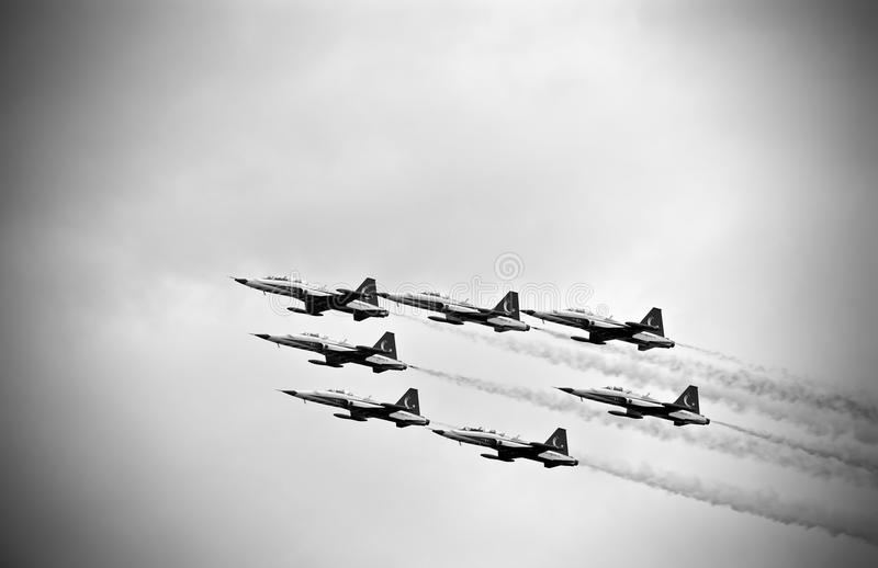 Airshow Italie militaire l'Europe image libre de droits