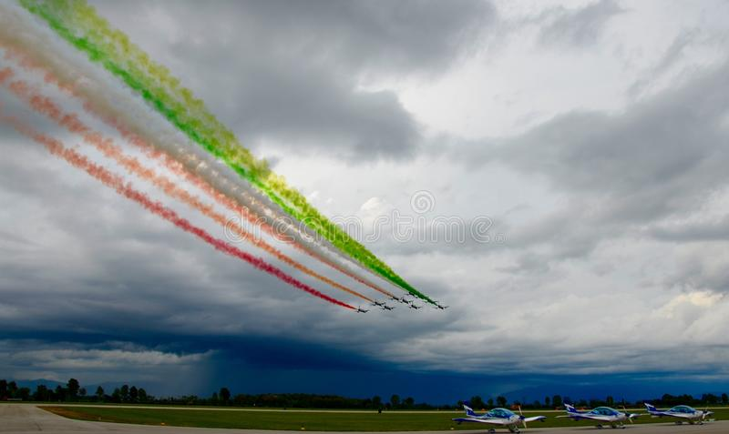 Airshow Italie militaire l'Europe photo libre de droits