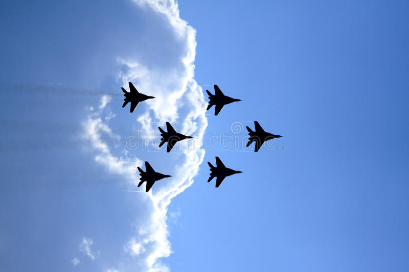 Airshow MAKS. Russia, Moscow, Zhukovsky. Airshow in Russia, Moscow, Zhukovsky stock photo