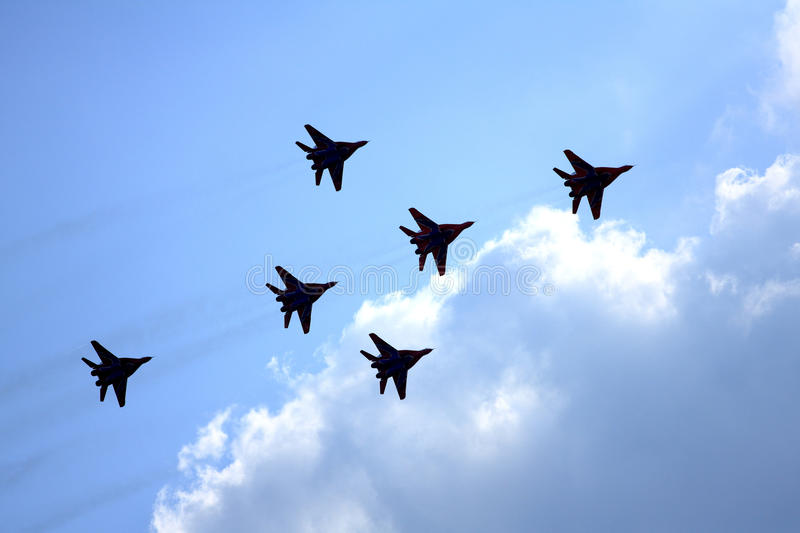 Airshow MAKS. Russia, Moscow, Zhukovsky. Airshow in Russia, Moscow, Zhukovsky royalty free stock photos