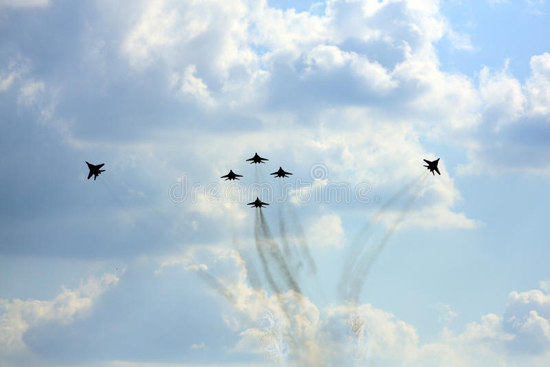 Airshow MAKS. Russia, Moscow, Zhukovsky. Airshow in Russia, Moscow, Zhukovsky stock photos