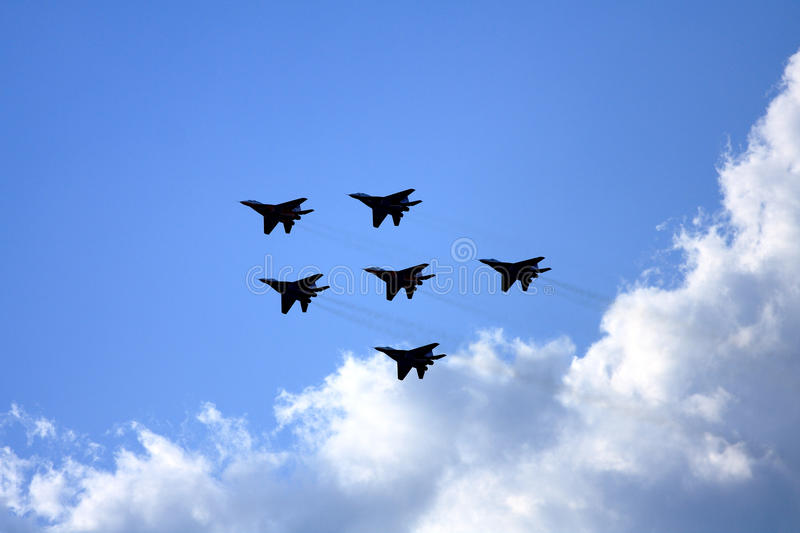 Airshow MAKS. Russia, Moscow, Zhukovsky. Airshow in Russia, Moscow, Zhukovsky royalty free stock image
