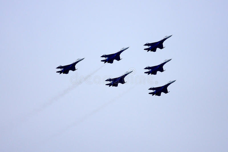 Airshow MAKS. Russia, Moscow, Zhukovsky. Airshow in Russia, Moscow, Zhukovsky royalty free stock photography
