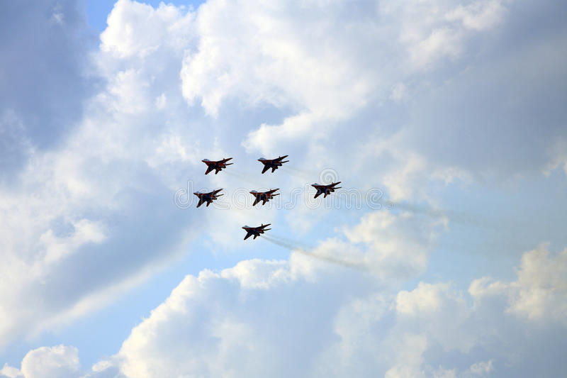 Airshow MAKS. Russia, Moscow, Zhukovsky. Airshow in Russia, Moscow, Zhukovsky stock photography