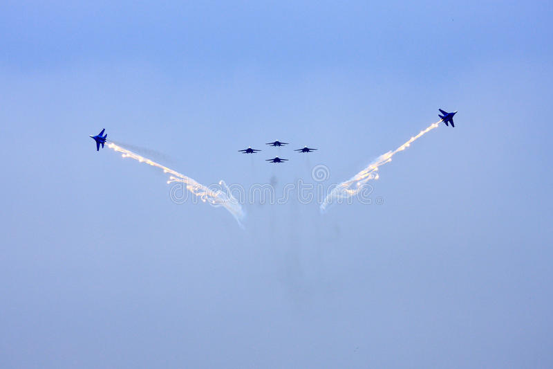 Airshow MAKS. Russia, Moscow, Zhukovsky. Airshow in Russia, Moscow, Zhukovsky stock image