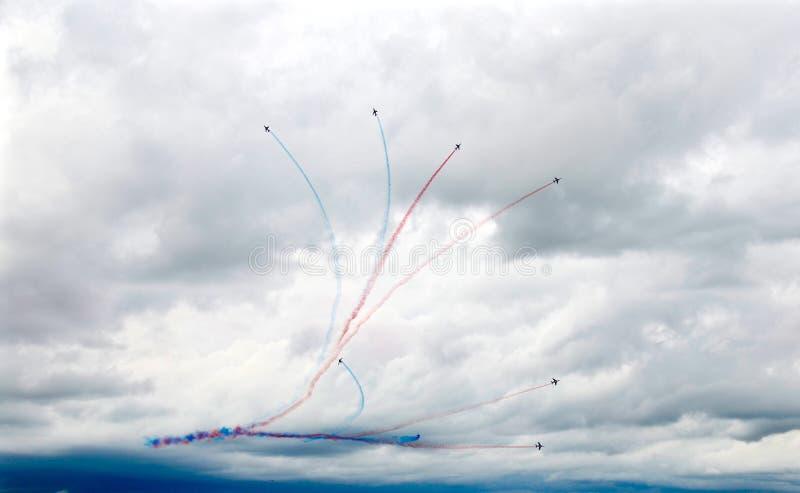 Airshow Militär-Italien Europa stockbilder