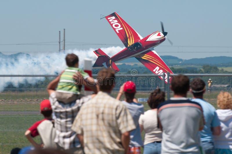 Airshow in Piestany, Slowakije stock fotografie
