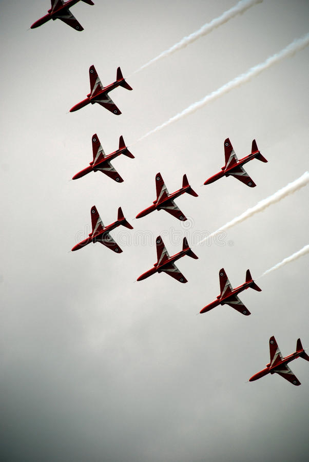 Airshow red arrows 6 royalty free stock images