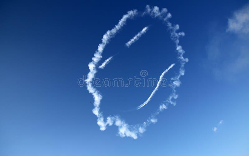 Airshow Smiley Face royalty-vrije stock fotografie