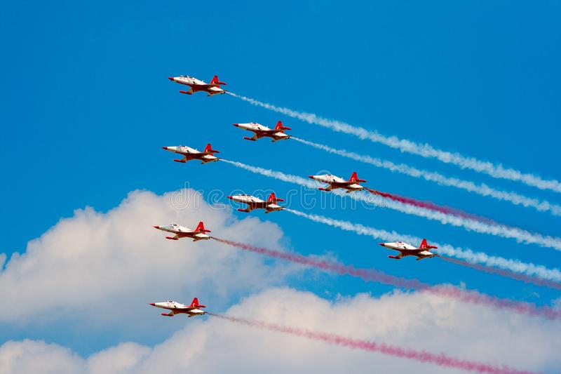 Airshow turco das estrelas F-5 imagem de stock royalty free