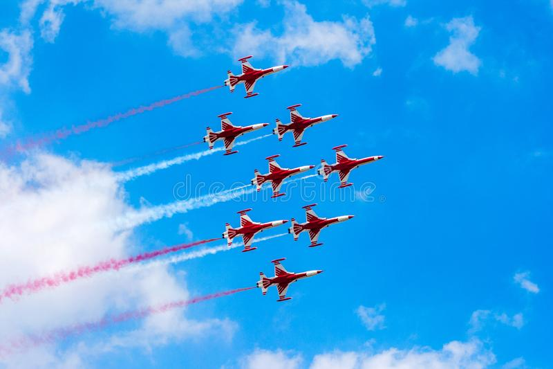 Airshow turco das estrelas F-5 fotos de stock