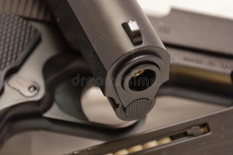 Airsoft-Pistolendetail stockfotografie