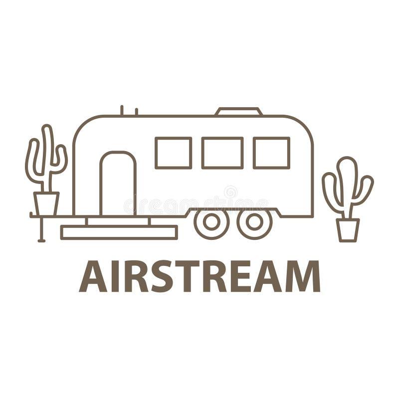 Airstream в линейном бесплатная иллюстрация