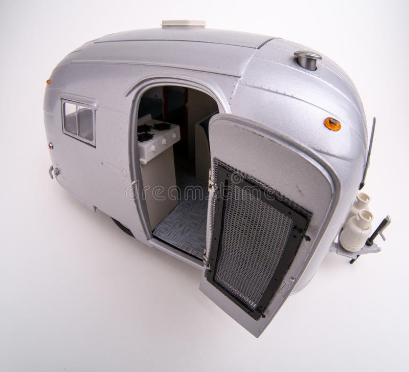 Airstream RV Camper Scale Model royalty free stock images