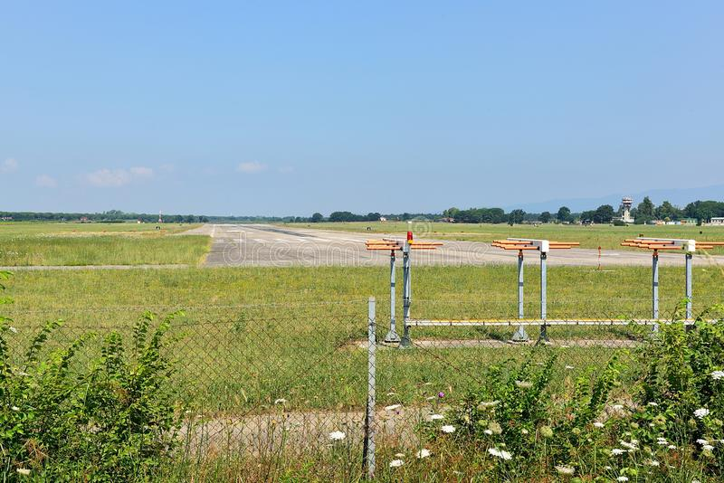 Airstrip. Landing strip for small planes and helicopters to reach royalty free stock photos