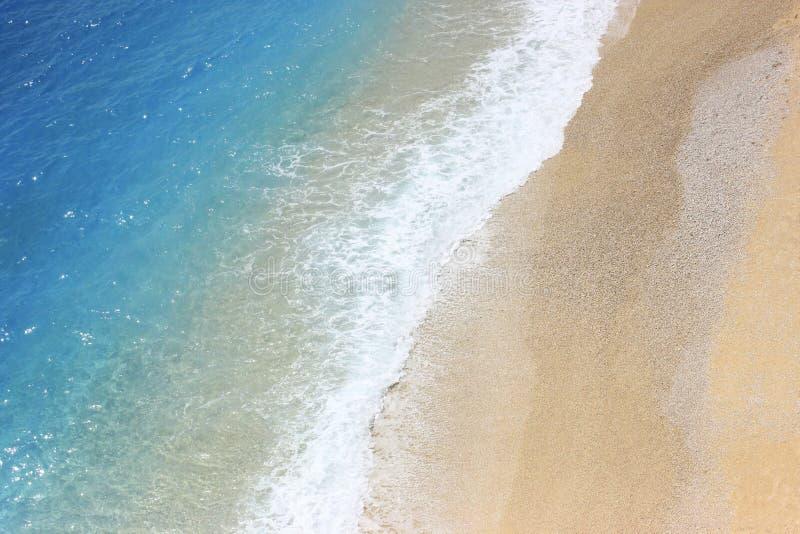 Airview brzegowy lazurowy morze zdjęcia stock