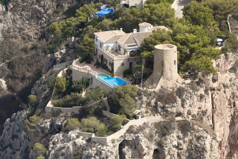 Airview od Alicante wybrzeża obraz stock