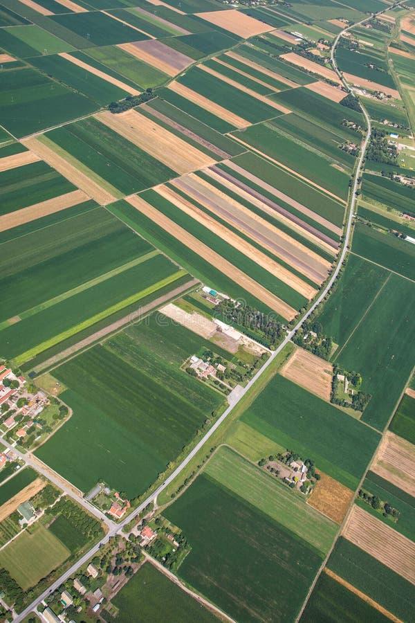 Airview pole zdjęcie royalty free