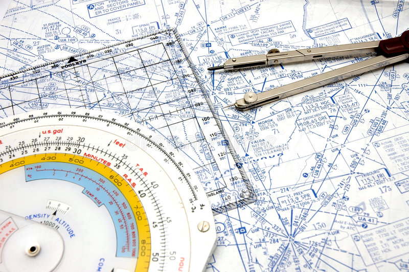 Download Airway Navigation 3 stock photo. Image of ruler, plan, compass - 360016
