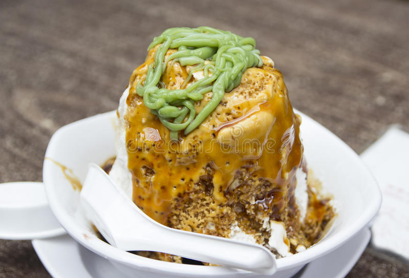 Ais kacang, Malaysian cold dessert. Or Air Batu Campur royalty free stock photo