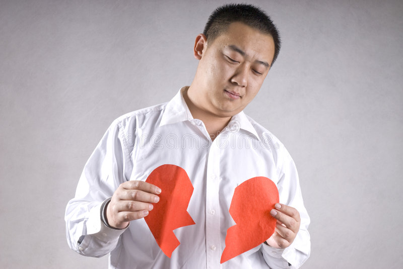 Download Aisa man with broken heart stock image. Image of valentine - 8053269