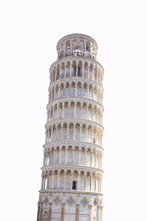 Aislado de la torre inclinada en Pisa, Italia imagen de archivo libre de regalías