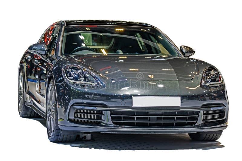 Aislado en el fondo blanco de Porsche 2018 Porsche AG es un G imágenes de archivo libres de regalías