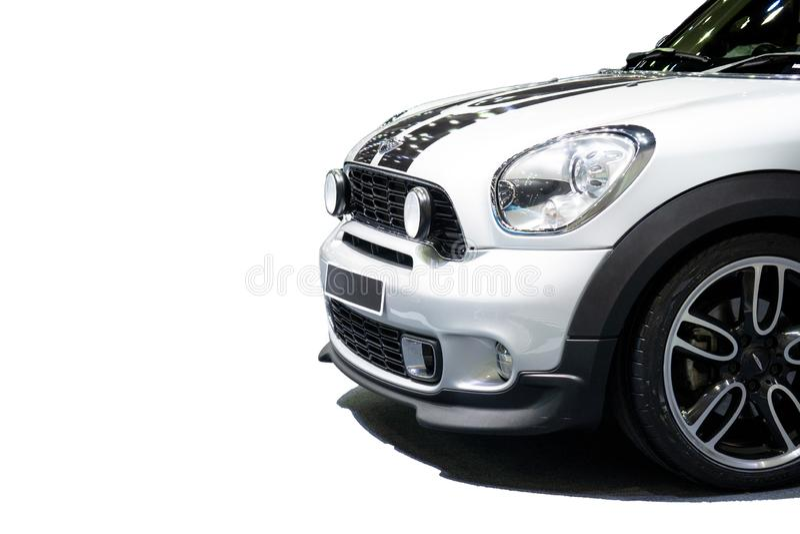 Aislado en el fondo blanco del modelo 2018 del coche de Mini Cooper Di imágenes de archivo libres de regalías